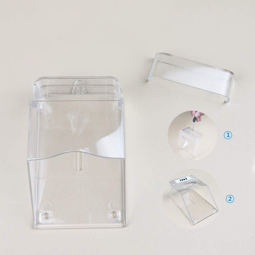 Shumo Couvercle de Cloche de Porte /éTanche et Transparent pour Sonnette Sans Fil Carillon de Porte de Maison