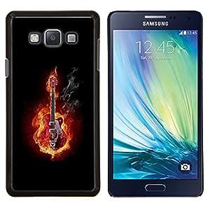 """Be-Star Único Patrón Plástico Duro Fundas Cover Cubre Hard Case Cover Para Samsung Galaxy A7 / SM-A700 ( Guitarra En Fuego y Humo"""" )"""