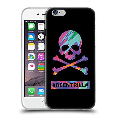 Official Been Trill Skull & Crossbone Colourful Prints Soft Gel Case for Apple iPhone 6 / 6s