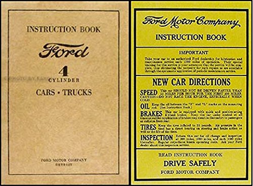 FULLY ILLUSTRATED 1932 1933 1934 FORD MODEL A & MODEL AA CAR & TRUCK 4 CYLINDER OWNERS INSTRUCTION & OPERATING MANUAL + PROTECTIVE ENVELOPE - Includes Model 40 4-cylinder, sedan delivery, Deluxe panel delivery, pickup