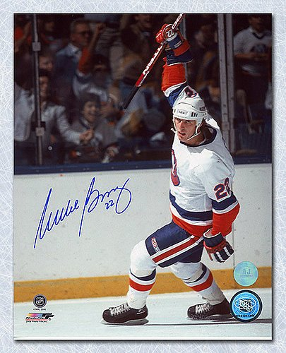 Mike Bossy New York Islanders Autographed Goal Celebration 8x10 Photo - Signed Hockey Pictures