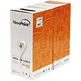 NavePoint 500ft in Wall Audio Speaker Cable Wire CL2 16/2 AWG Gauge 2 Conductor Bulk White