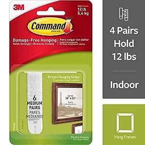 Amazon.com: Tiras para colgar cuadros Command, mediana ...
