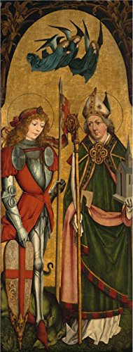 [Oil painting 'Master of the Monis Altar,Saints George and Wolfgang,about 1491' printing on high quality polyster Canvas , 12x32 inch / 30x80 cm ,the best Wall art gallery art and Home decor and Gifts is this Vivid Art Decorative Prints on] (Dead Poets Society Costume)