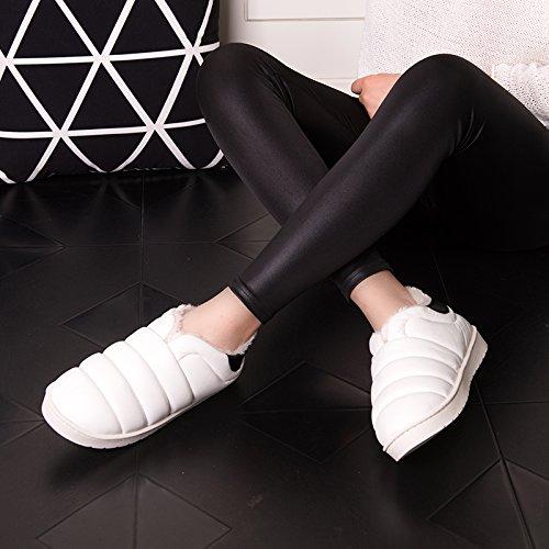 Pu Tomaia in pelle impermeabile scarpe di cotone con il pacchetto invernale con seguita da un pacchetto completo con radice uomini donne pantofole di cotone, usura adatto per 34-35, ,35-36 viola chiar