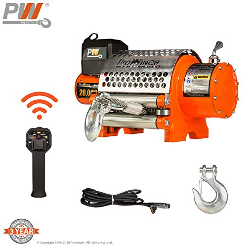 20,000 lbs Electric Waterproof Winch Wire Rope 24V -