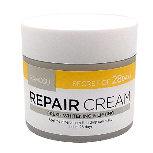 [RAMOSU] 28 Days Soothing Facial Repair Cream | Moisturizing, Anti Wrinkle, Whitening Good for Sensitive Skin 1.7oz (Aging Radiance Anti Moisturizer Fresh)
