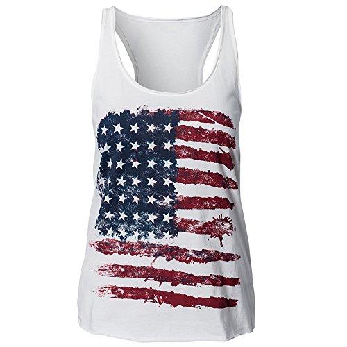 0d0dea0cc5836e REINDEAR Fashion Women Patriotic American Flag Print Lace Camisole Tank Top  US Seller at Amazon Women s Clothing store
