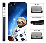 [TeleSkins] - Hipster Astronaut Llama Galaxy- iPhone4 / 4S Plastic Case - Ultra Durable Slim Thin Fit and Highly Protective Black Designer PLASTIC Snap On Back Case / Cover. [Fits iPhone 4 & 4S]