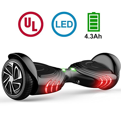 Price comparison product image TOMOLOO Hoverboard with Bluetooth Speaker & LED Light and App Black Two-wheel Self Balancing Scooter with UL2272 Certified