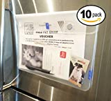 10 PACK UkiUnni Magnetic Pouches - Refrigerator Mail Holders / Kids Craft organizers / Travel folders - Water Resistant