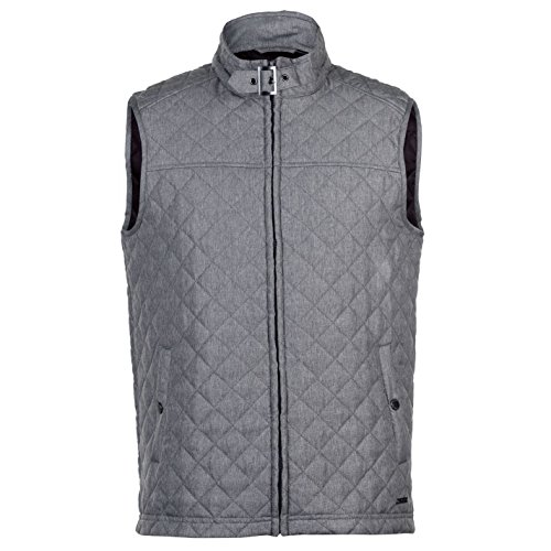 Pierre Cardin Mens Lightweight Diamond Quilted Bodywarmer Gilet (Small, Grey)