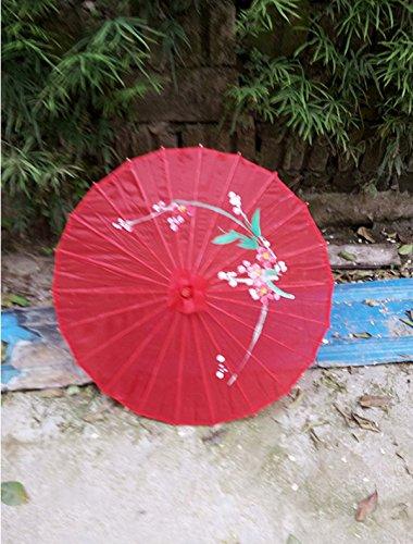 Aiweasi Bamboo Plum Parasol Dance Props Red by Aiweasi (Image #2)