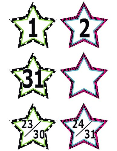 Teacher Created Resources Fancy Stars Calendar Days (5217)