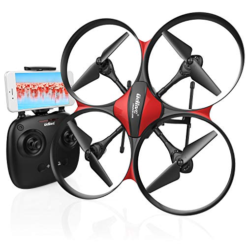 DROCON-U818PLUS-WiFi-FPV-Drone-with-Wide-Angle-HD-2MP-Camera15-Min-Flight-Time-Altitude-Hold-Headless-Mode-One-Button-Take-Off-and-Landing-TF-Card-4GB-Included-Quadcopter-Designed-for-Beginners