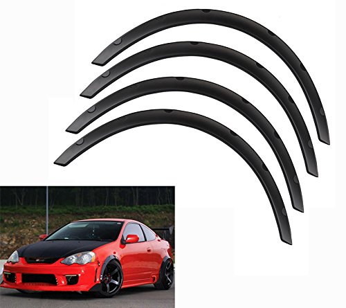 Ruien Universal Fender Flares Over Wide Body Wheel Arches 4pcs 2inch -