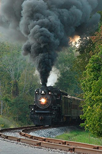 (Gifts Delight Laminated 24x36 inches Poster: Steam Locomotive Engine Railway Railroad Train Travel Old Retro Smoke Historical Transport Nostalgia Rail)