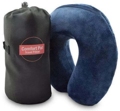 A Firm Neck Pillow That Provides Optimum Comfort and Support - Comfort Pal Memory Foam Travel Pillow with Carry Bag and Washable Cover - Eliminate Neck Pain in Cars, Planes, or When Sleeping at Home