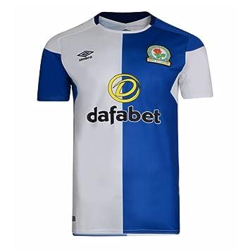 7d06aeeab8e Umbro 2017-2018 Blackburn Rovers Home Football Soccer T-Shirt   Amazon.co.uk  Sports   Outdoors