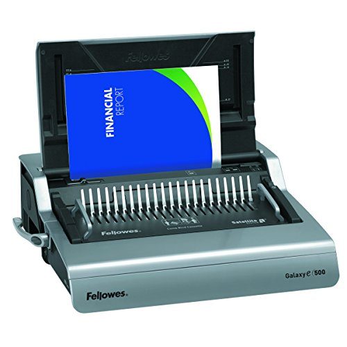 Fellowes 5218301 Galaxy 500 Electric Comb Binding System, 500 Sheets, 19 5/8x17 3/4x6 1/2, Gray by Fellowes
