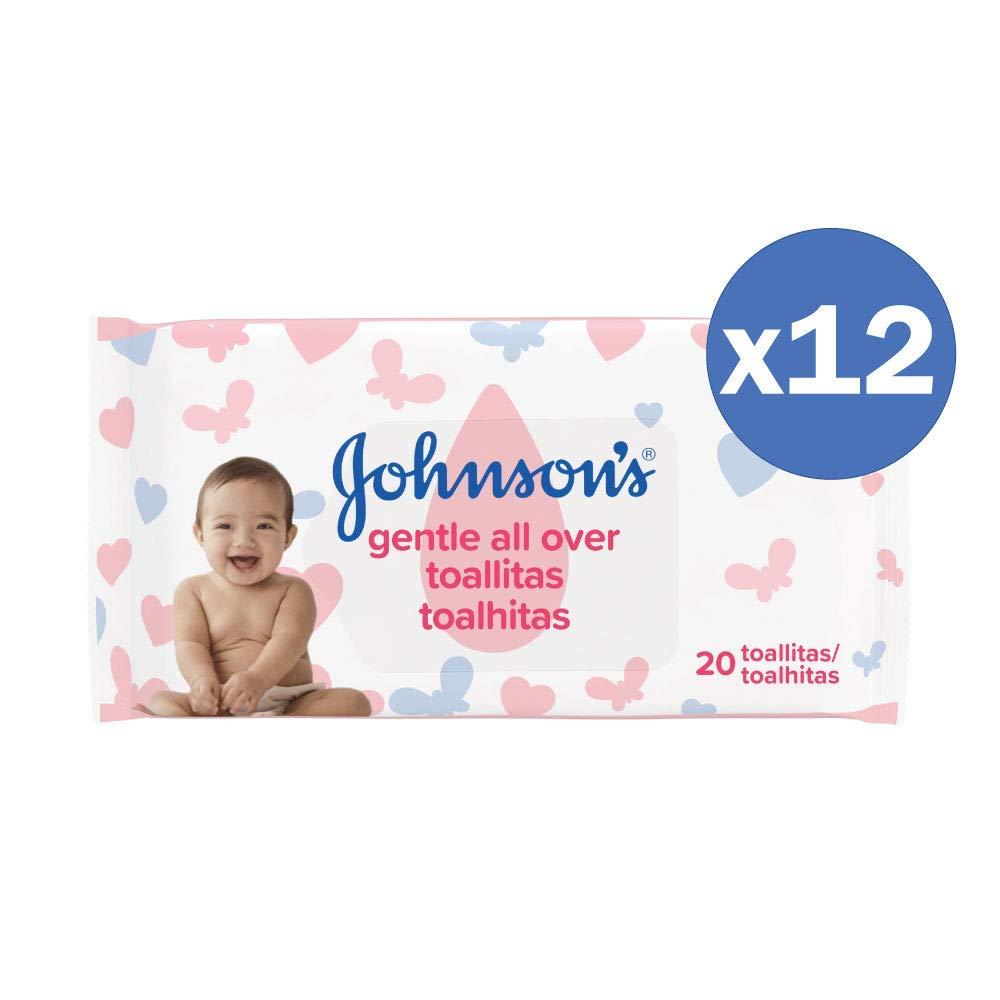 Johnsons Baby Toallitas Beb/é 120 toallitas 6 Paquetes de 20 Toallitas Total