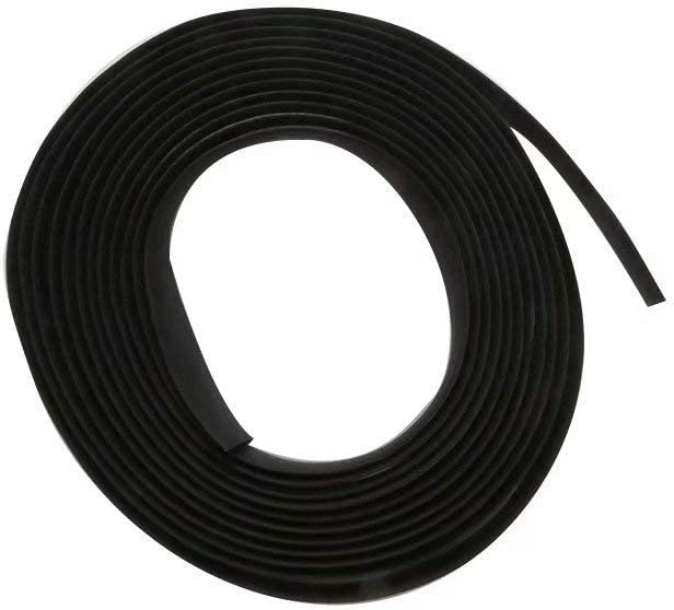 BLUE ELF 5M Auto Seal Weather Stripping Rubber Sealing Strip Trim Cover for Car Front Rear Windshield 16FT