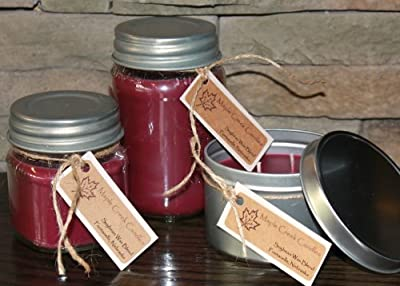 Maple Creek Candles WINE CELLAR ~ Red Wine & Oak ~ Soy Wax Blend 16oz jar candle