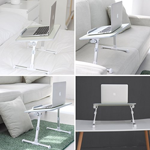 Neetto Adjustable Laptop Table Portable Standing Bed Desk
