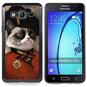 Cat Angry Face Siamese Pink Nose General Art Caja protectora de pl??stico duro Dise?¡Àado King Case For Samsung Galaxy On5 SM-G550FY G550