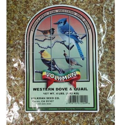 Volkman Western Dove and Quail Wildbird Mix 4lb for sale  Delivered anywhere in USA