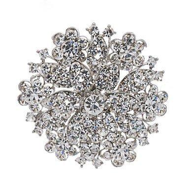 informazioni per e76e9 7af2e partito fiore goccia spilla di strass spille gioiello spiedo ...