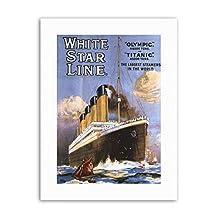 OCEAN LINER OLYMPIC TITANIC STEAMER WHITE STAR UK Poster Travel Sport Canvas