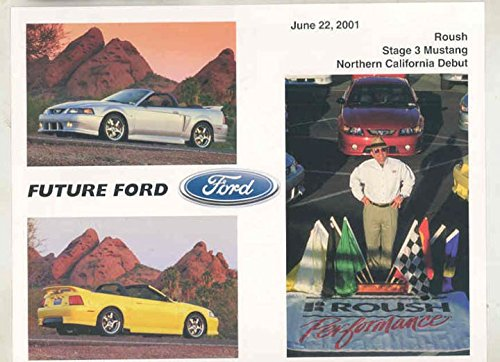 2001 Ford Mustang Convertible Roush Stage 3 Debut Brochure (Roush Mustang Convertible)