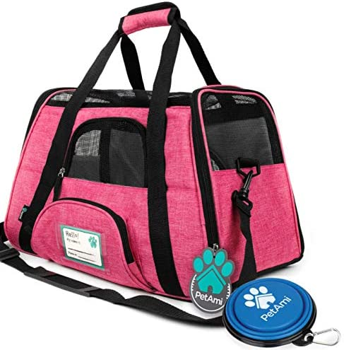 PetAmi Premium Airline Approved Soft-Sided Pet Travel Carrier by Ventilated, Comfortable Design with Safety Features | Ideal for Small to Medium Sized Cats, Dogs, and Pets 2