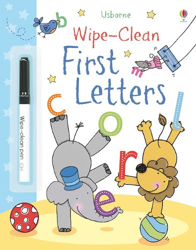 Wipe Clean First Letters Usborne Books product image