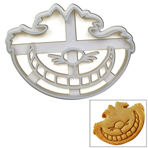 """Cheshire Cookie Cutter, 1 pc, Inspired by """"Alice's Adventures in Wonderland"""" novel by Lewis Carroll, Great for mad tea party"""