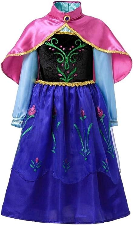 Disfraz de Anna frozen - niña - color azul - halloween - carnaval ...