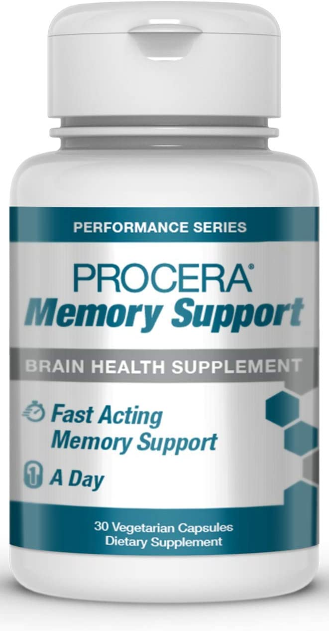 Procera Memory Support – Patented Clinically Studied Panax Ginseng Ginkgo Biloba Supplement Supports Increased Blood Flow Energy Performance Enhancer Fast-Acting Veggie Capsules 1Pack