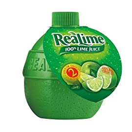 Realime 100% Lime Juice 5 Great for use in recipes, meat marinades, and salads Lime Juice from Concentrate (Water, Lime Juice Concentrate), Sodium Benzoate (preservative), Lime Oil, Sodium Metabisulfite (preservative).
