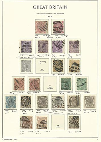 Great Britain Stamp Collection on Lighthouse Page 1867-80, 49//60 SCV $2875