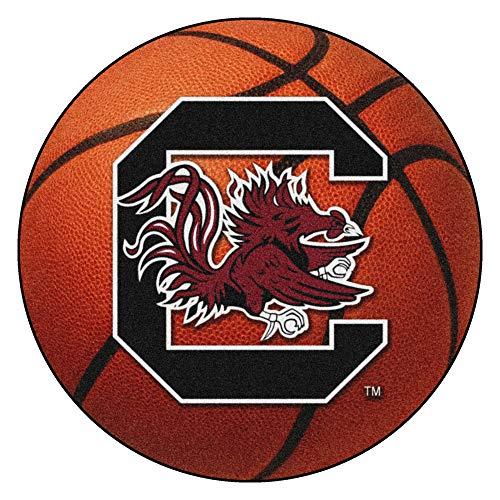 FANMATS NCAA University of South Carolina Gamecocks Nylon Face Basketball Rug