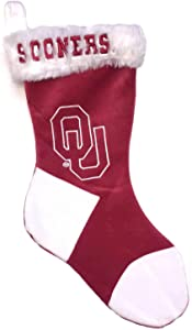 NCAA Oklahoma Sooners Embroidered Plush Stocking, 18-inches