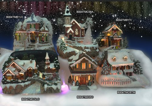 Christmas Snow Village Fiber Optic Church Chapel Winter Collectible by Banberry Designs (Image #4)