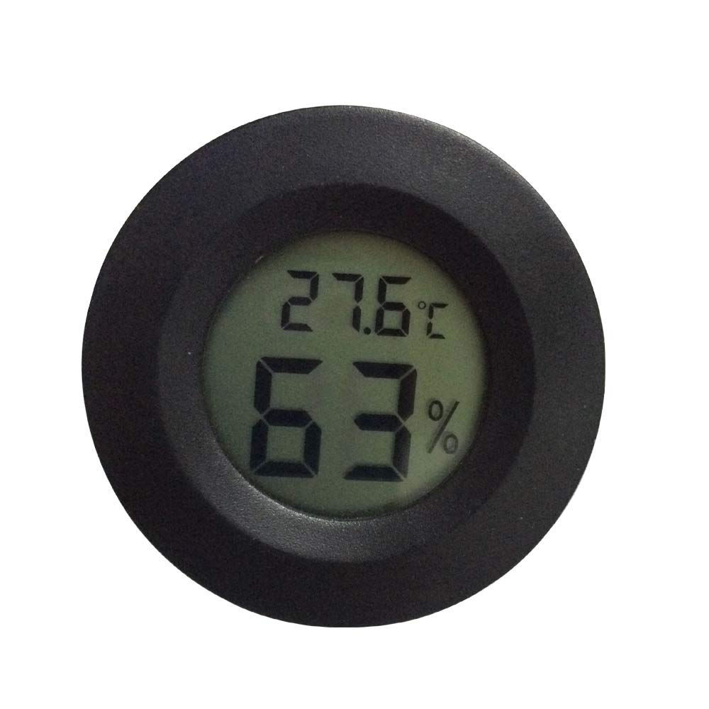 ONLY DEGREE, Digital Reptile Thermometer Gauge Terrarium Hygrometer Lizard Spider Tortoise Tank Centigrade Convertible Fahrenheit (1 PCS)