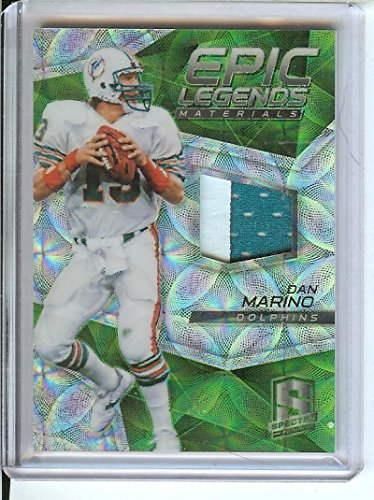 Football NFL 2017 Spectra Epic Legends Materials Neon Green #4 Dan Marino MEM 2/10 Dolphins by Spectra