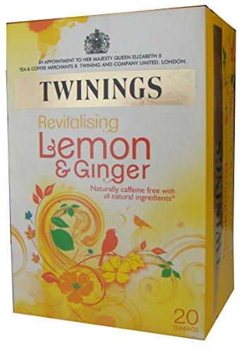 Twinings Травяной чай, лимон и китайский имбирь, 20 пакетика Box (в упаковке 6)