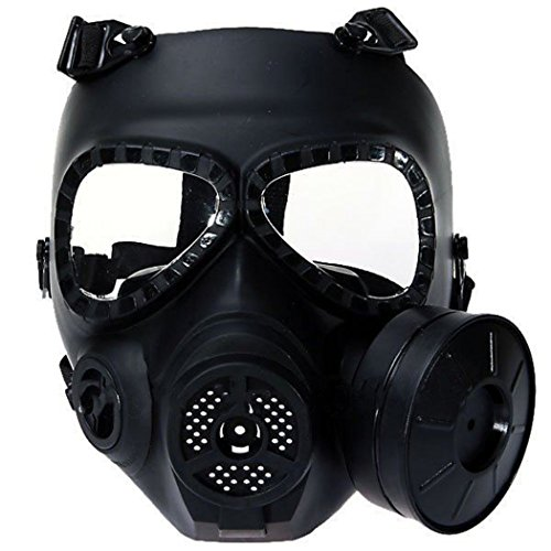 Amazon.com : M04 Airsoft Paintball Mask, Protective Full Face Gas Mask Fan with filter CS Mask Dust Face Guard for War Game Cosplay Halloween Masquerade ...