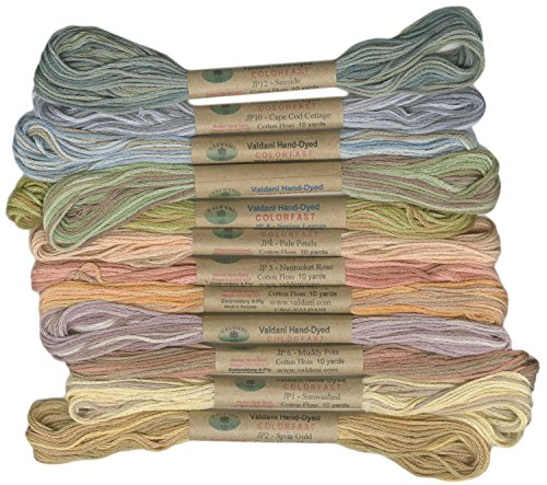 (12 Valdani 6 Strand Floss Embroidery Thread Muddy Monet 10 Yd Skeins)