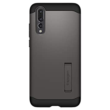 the best attitude 8bfde 6bb79 Spigen [Slim Armor] [Gunmetal] Case for Huawei P20 PRO, Hybrid Drop  Protection Air Cushion Technology Military Grade Resistant Shockproof  Tested ...