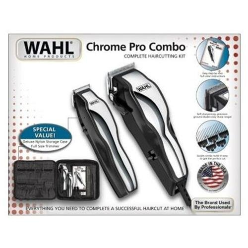 Wahl Chrome Pro Combo with Deluxe Nylon Storage Case (For Men) by Economize